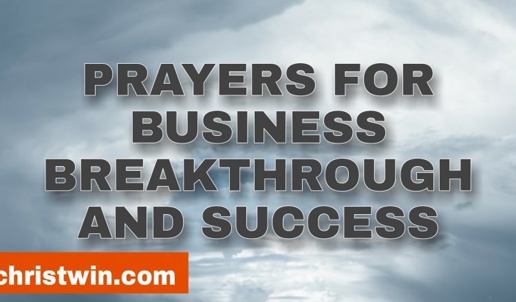prayer for business breakthrough and success