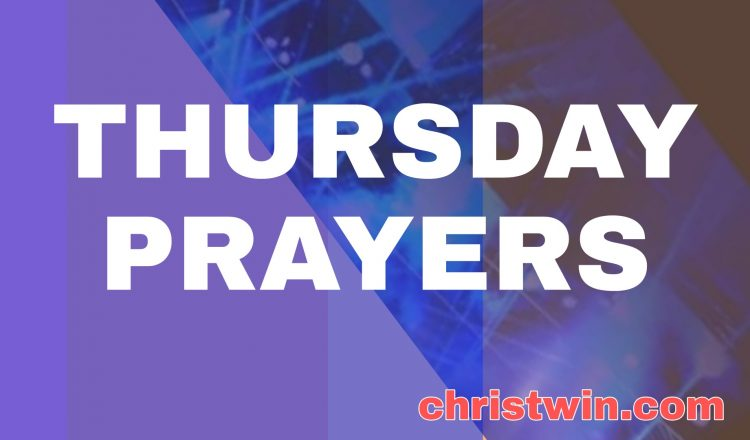 Thursday Prayer with bible verses